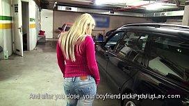 Busty blonde amateur banged...