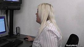Blonde secretary suck and...