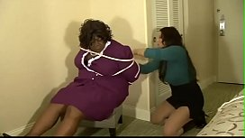 Audrey Gets Kidnapping And Tied Up By A Thief