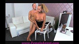 FemaleAgent Nervous stud caught...