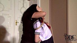 Naughty Schoolgirl Amber Nevada...