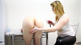 Prostate massage on kitchen...