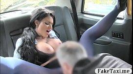 Busty tattooed woman smashed...