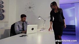 Gorgeous secretary Barbara Bieber...