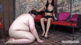 Fat Slave Worships Enza...