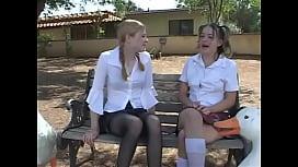 In The Schoolbus-2 cute schoolgirl b ...