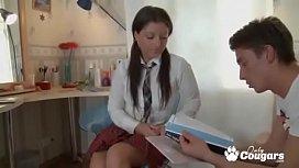 Young Russian School Girl...