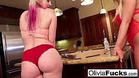 Olivia anally violates late...