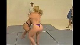 Strong girl wrestling...