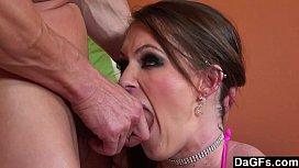 Busty Babe Chokes On...