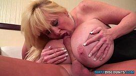 Busty pornstar pussyfucked in...