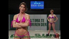 Lesbians wrestling...