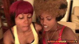 Amateur ebony ladies kissing...
