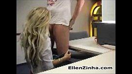 Blonde having sex in...