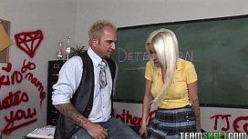 Blonde schoolgirl gets fucked...