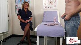 Bigtitted nurse voyeur encouraging...