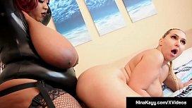 Curvy Nina Kayy StrapOn Fucked By Black BBW Jalisa Elite