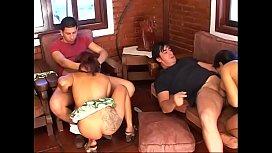 Latin babe gets anal...