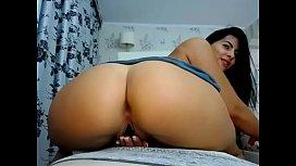 Latina girl big booty anal toy