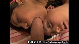 Sleeping brunette beauties...