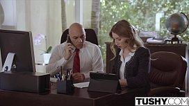 Submissive secretary punished and...