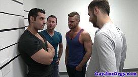 Gaysex orgy hunks blow...