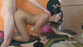 Exotic hottie Angelina Chung...