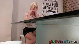 Girlfriends Blonde stunner stops...