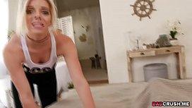 Blonde rebel teen Trisha...