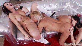 Christmas 3-Way Lesbian Fun With Kendall Karson