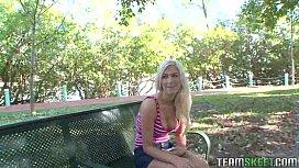 Busty blonde babe Vicky...