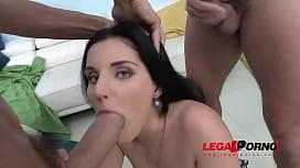 Sex Kitten Lucia Denville 4on1 Hardcore gangbang with DP & facials lornhub