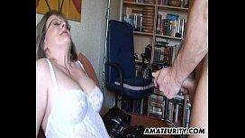 Busty mature amateur Milf sucks and fucks kates tube
