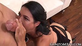 Cum tasting MILF Dana...