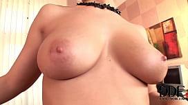 Eve Angel masturbating in...
