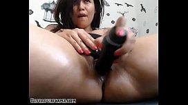 BBW pleasuring herself with...