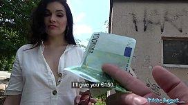 Public Agent Hot Dark Haired MILF fucks stranger for his cash