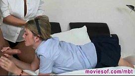 Horny teen couple having...