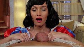 Snow White oily HANDJOB...