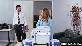 New big tits employee...