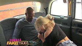 FemaleFakeTaxi blonde milf loves...