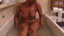 Desi girl bathing...