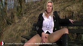 Marina Montana pissing...