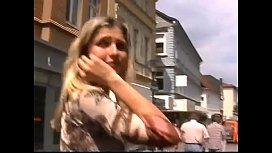 Czech girl outside in...