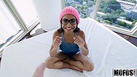 Petite Ebony Babe Gets...