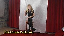 Backstage erotic photoshoot with...