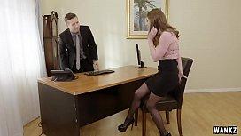 WANKZ- Sexy Office Assistant Alice March