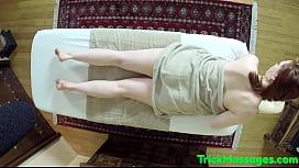 Curvy babe tugging masseurs...