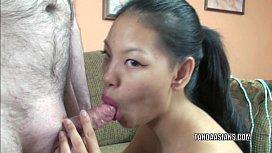 Asian college girl Olivia...