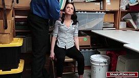 Suspect Kylie sucks officers huge cock